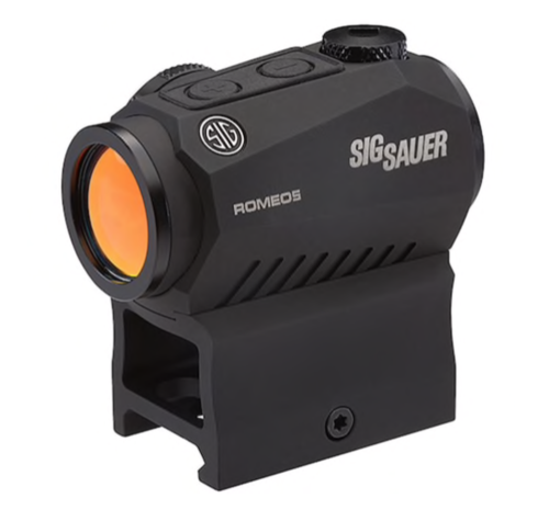 Sig Sauer ROMEO5 Compact Red Dot Sight 1x 20mm 1/2 MOA Adjustments 2 MOA Dot Reticle with M1913 Co-W